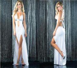 שמלה סקסית בלבן